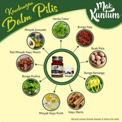Mak Kuntum Balm Pilis (30 gram)